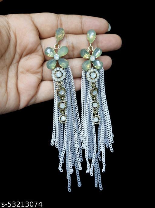Latest Western Long Chain Hoop Earrings
