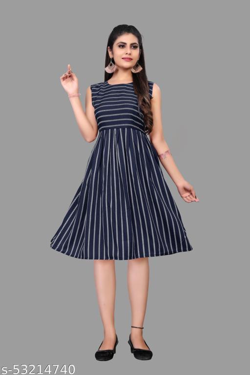 Pretty PartyWear Woman Dresses NavyBlue