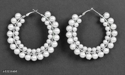Klenot Double Pearl Hoop Earrings