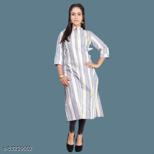 Indrani Fashionable Embroidery Cotton Long Kurti