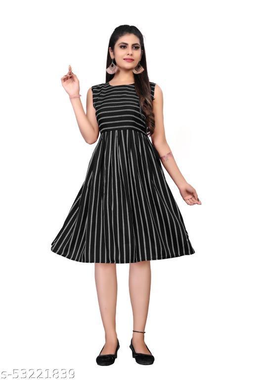 Pretty PartyWear Woman Dresses Black