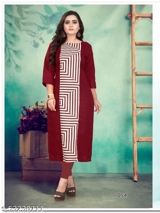 Women Solid Cotton Silk Straight Kurta  (Multicolor)