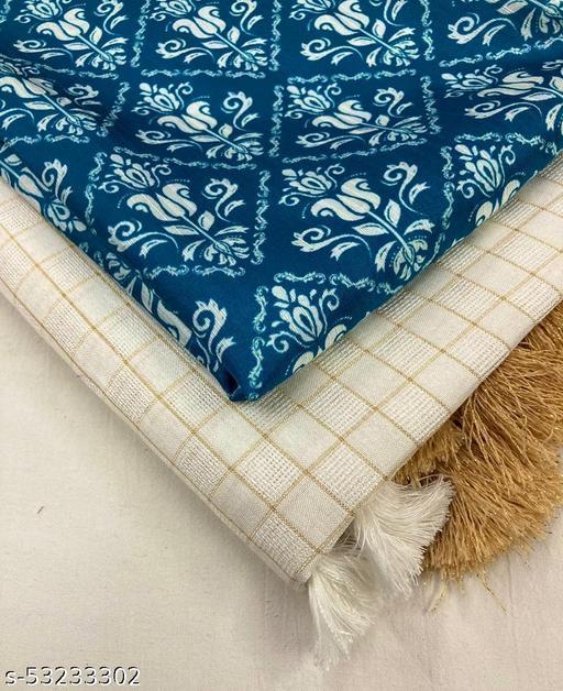 Ak- Rajni/checks saree/printed blouse