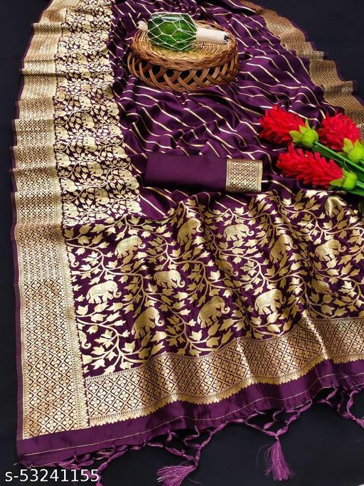 Woven Banarasi Art Silk Saree