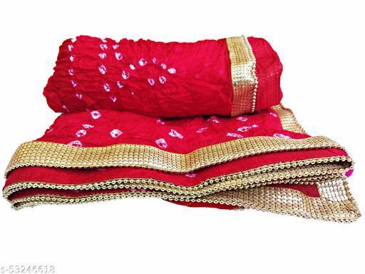 Bandhani Bandhej Dupatta ( Red )