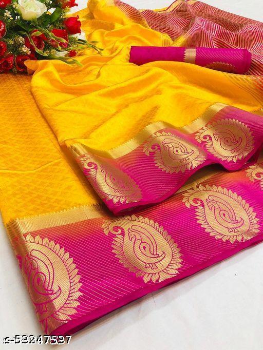 Pemal Designer Attractive Kanjeevaram Silk Saree With Running Blouse Piece