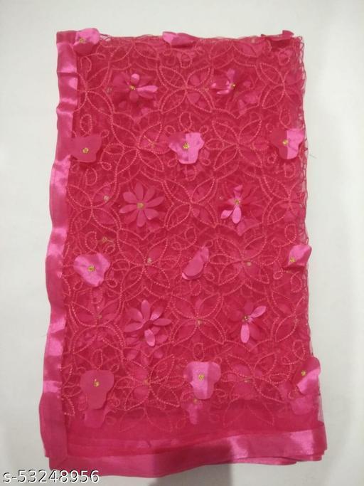 Embroidery Net Cutwork Duptta