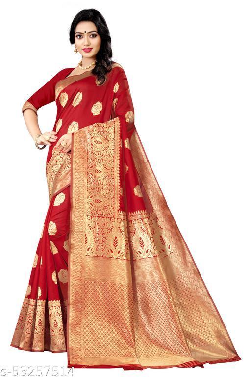 Deetya Fashion Present Women's Banarasi silk Kanjivaram sarees with Blouse Piece