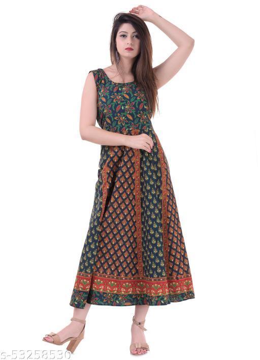MANZIL SHOPPING |Women's Fit And Flare Midi dress| Size- free size upto xxl |