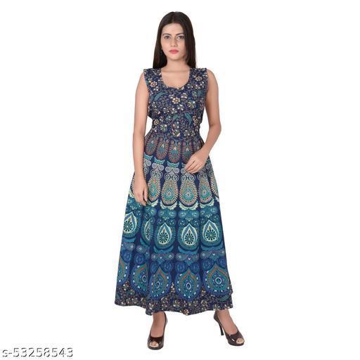 MANZIL SHOPPING  Women's Fit And Flare Midi dress  Size- free size upto xxl  
