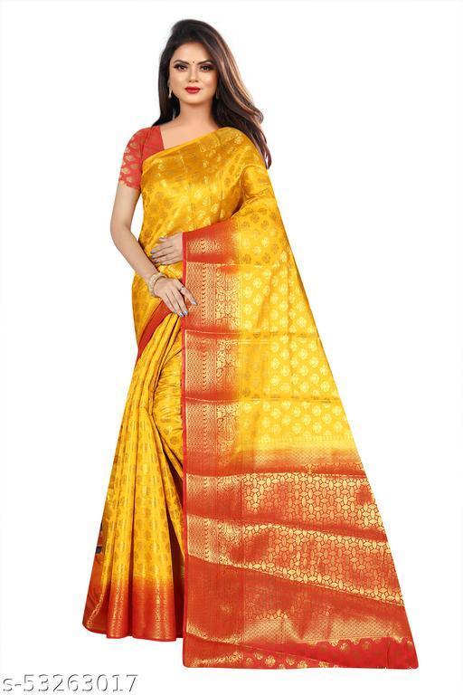 Mohini Women's Beautiful Kanjivaram Soft Silk Saree