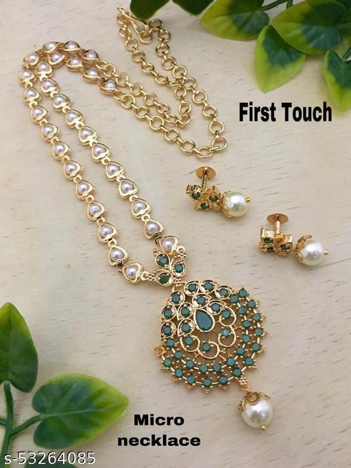 Cheapokart's Green Stoned Necklace Set
