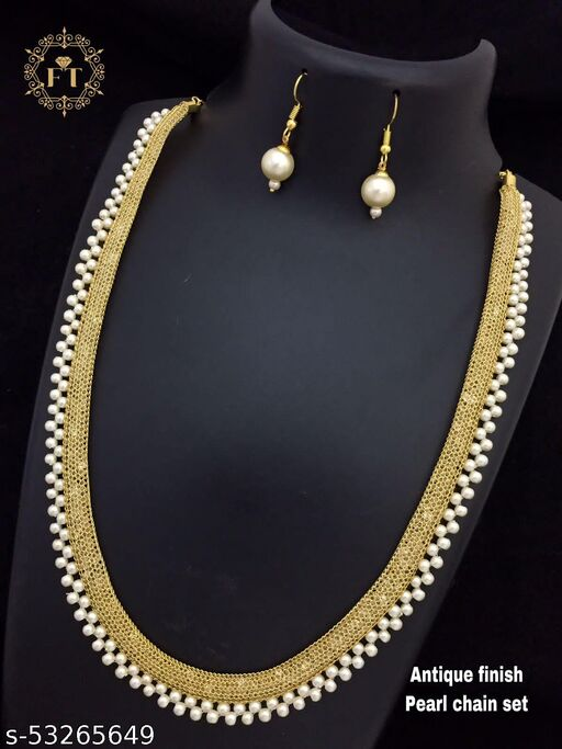 Cheapokart's Rose Gold Beads Necklace Set