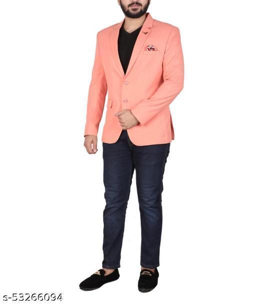 Stylish Men Cotton Blend Blazers