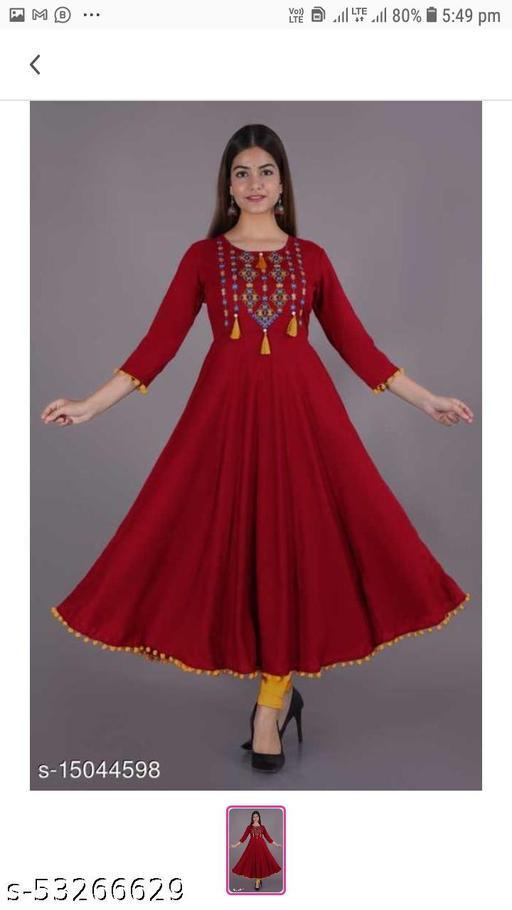 Joban's Women Rayon Embroiderd Gown