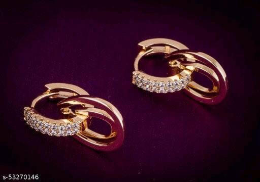 Women Golden Fancy Earrings