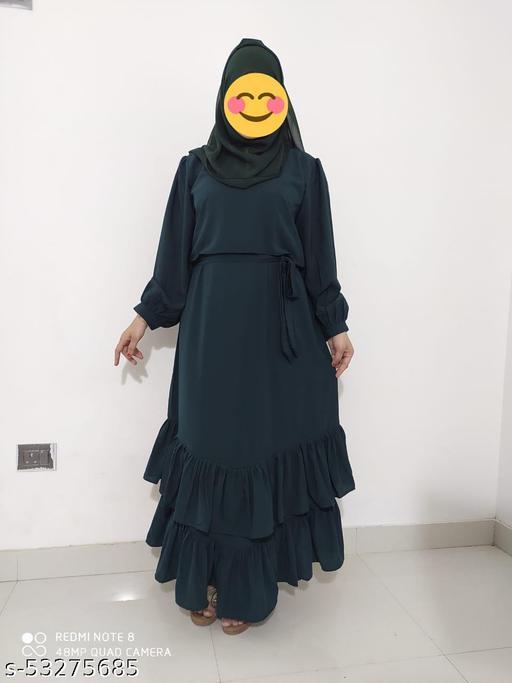 Muslim Abaya Kaftan Long Sleeve Maxi Dress Islamic Cocktail Arab Women Cardigan