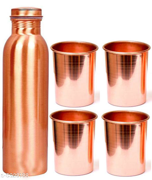 Copper Bottle With Copper Glass
