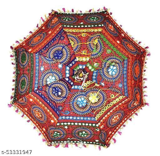 Traditional Embroidery Work Decorative Handmade Umbrella for Decoration