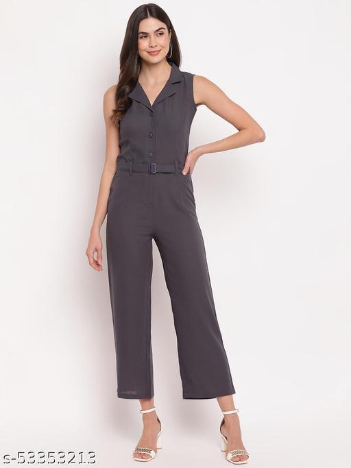 Mayra women's Grey Partywear Jumpsuit