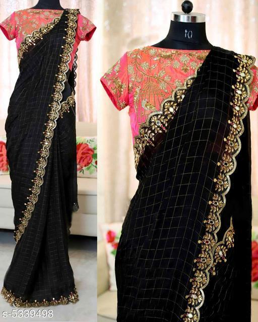 Attractive Cotton Chex Saree