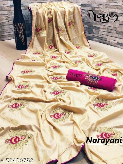 Sana silk saree with embroidered work