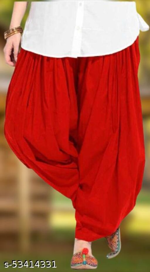 RJS Pure Cotton Solid Salwar For Women