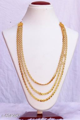Women's Layred Alloy Gold Plated Necklaces & Chains