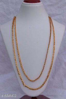 Women's Alloy Gold Plated Necklaces & Chains