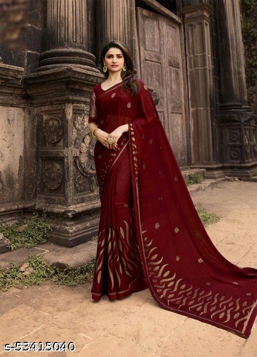 Trendy Sensational Designer Party Wear Soft  Silk Saree.