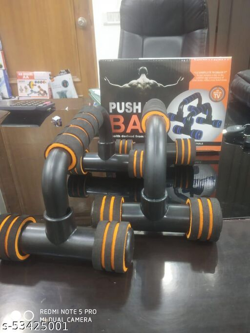 Push-up Bars - Strong Chrome Steel Pushup Stands with Comfortable Foam Grip and Non-Slip Bars - Safe,