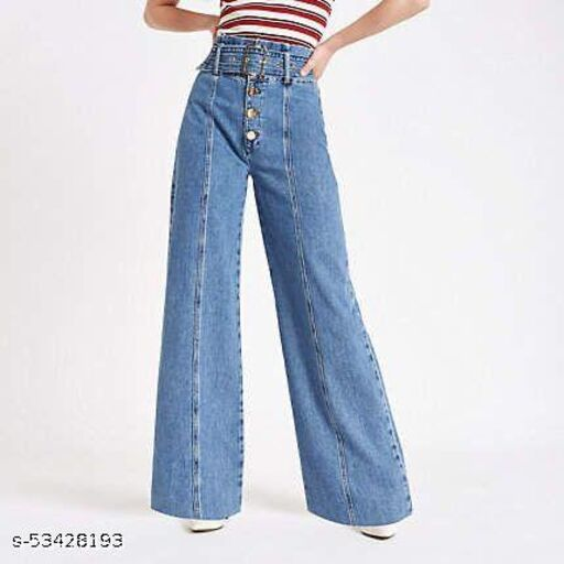 LATEST WIDE LEG JEANS WITH BELT