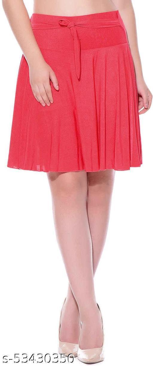 Mixcult Purple Solid Knee Length Skirt