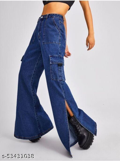 BOOT CUT WOMEN IMPORTED LATEST TRENDY JEANS