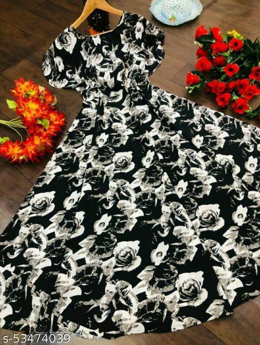 Women Black & White Floral Print Layered Maxi Dress