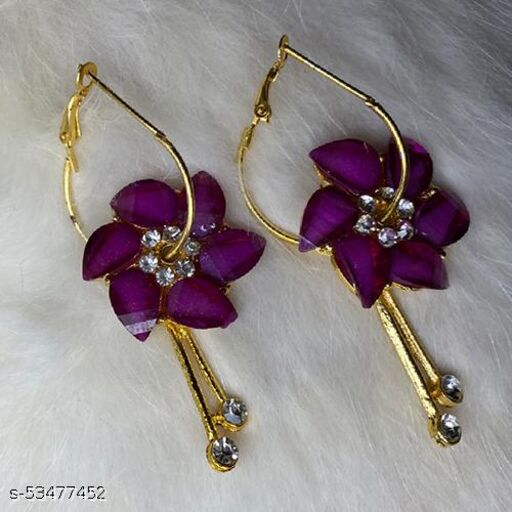 Floral Earring (Purple)