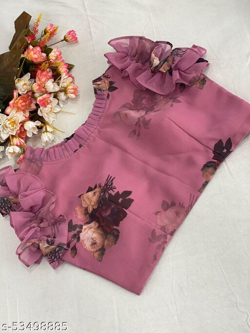 fancy stitched georgette blouse
