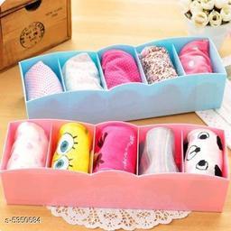 2 Piece, Multipurpose Storage Drawer Socks Undergarments Organizer (Multi Color)