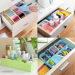 8 Piece, Multipurpose Storage Drawer Socks Undergarments Organizer  (Multi Color)