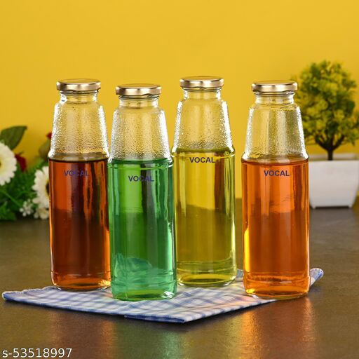 VOCAL crystal clear glass bottle