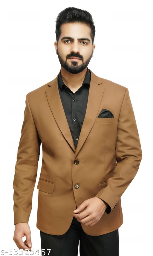 Solid Single Breasted Party Men Blazer