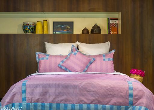 MABA Polyester Blend Double Bed Blanket - Pink