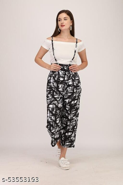 Women's Printed Dungarees Jumpsuits