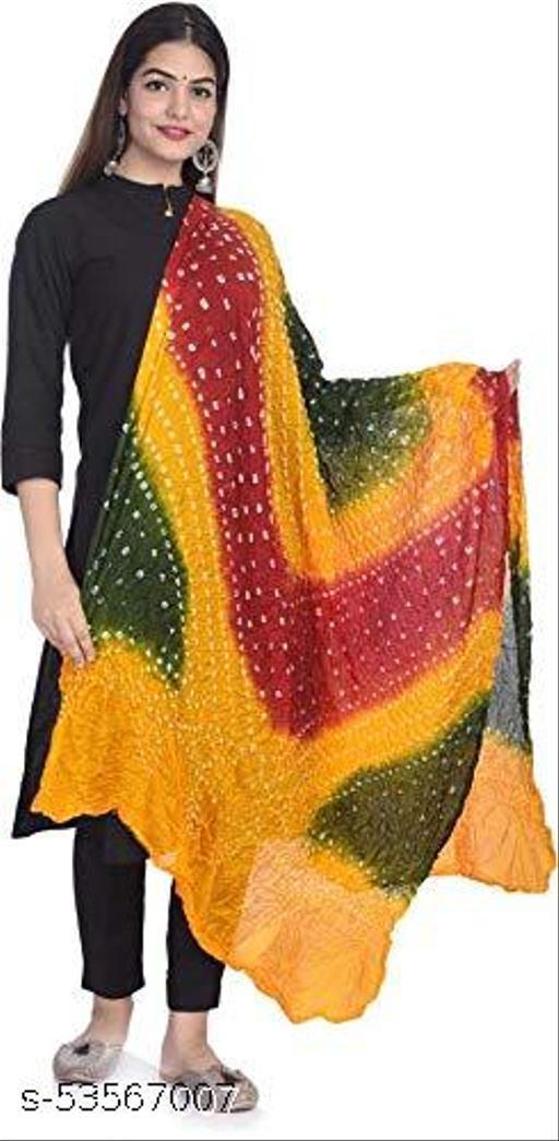 Uva World women's bandhani art silk multi colour