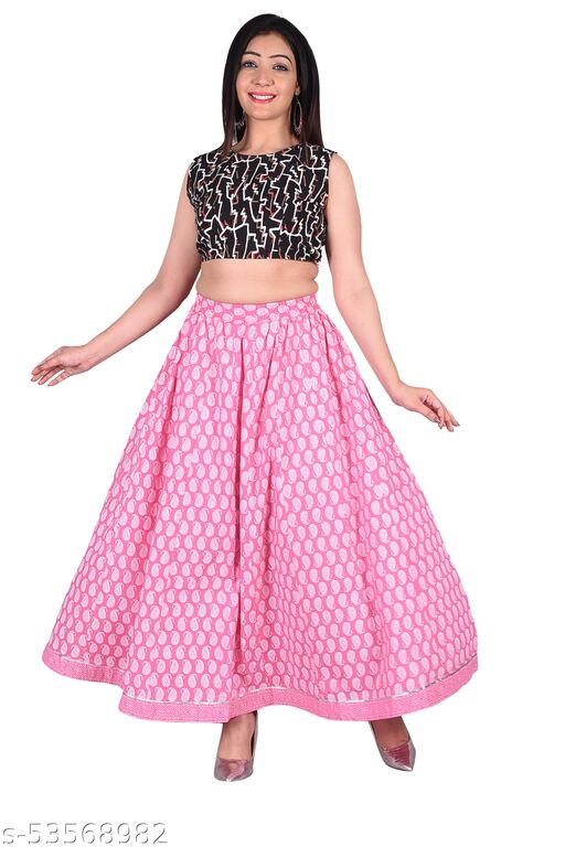 Cotton Printed Skirt For Girls And Women