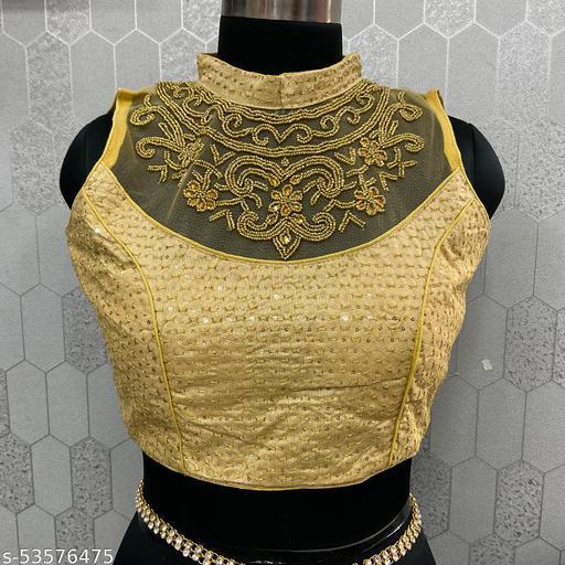 Netted gold neck handwork