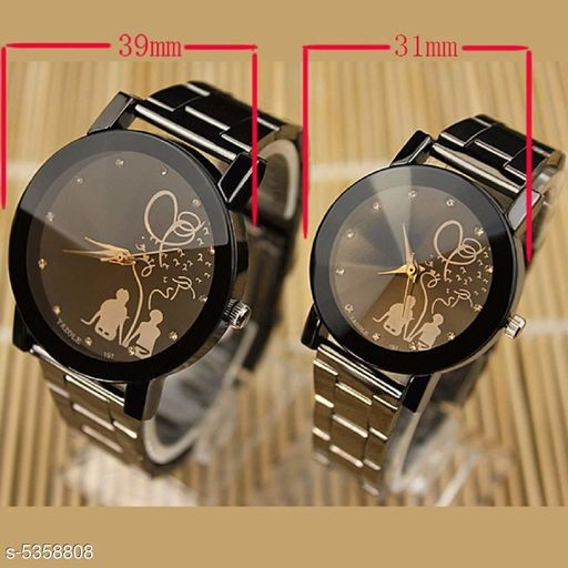 Attractive Analogue Couple Watches Combo