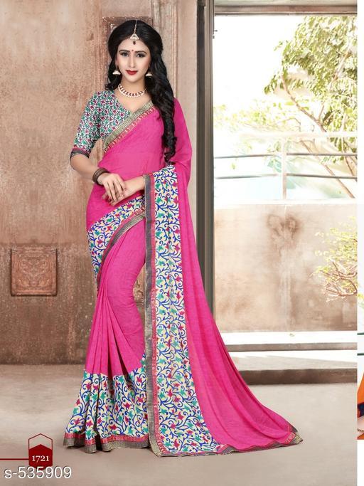 Trendy Partywear Vat Lace Saree