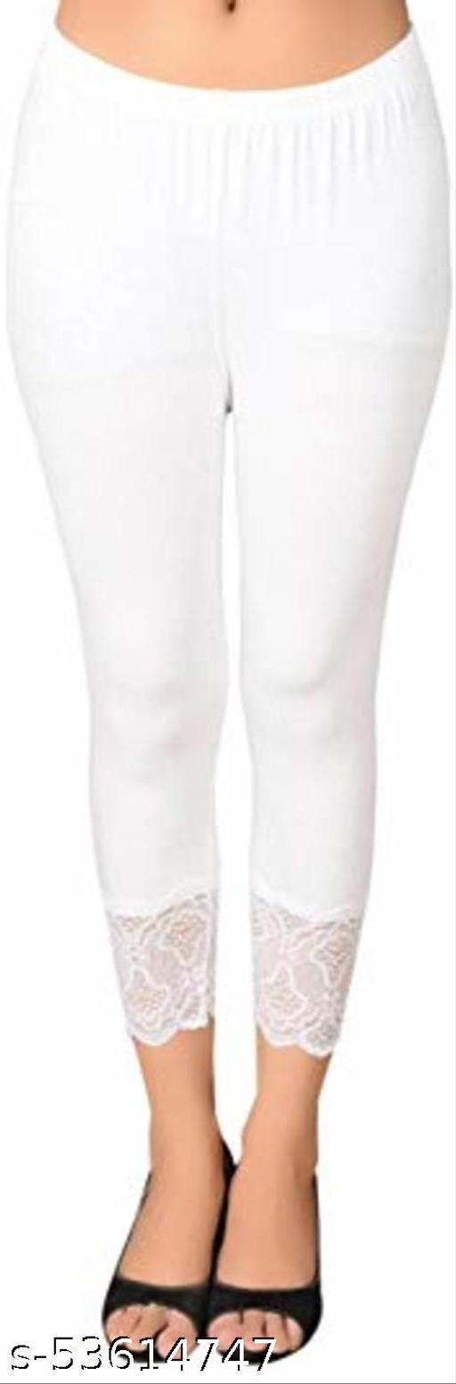 3/4th Length White Capri for Women