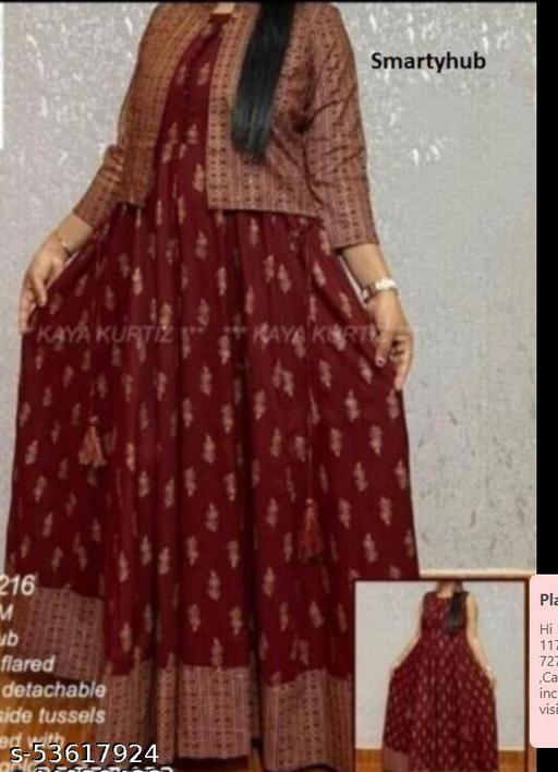 MUNNA_MAROON JACKLINE Gown